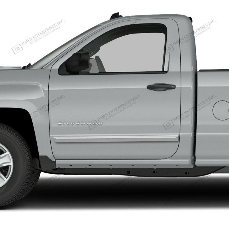 Gmc Canyon Extended Cab Chrome Body Side Molding 2015: GMC SIERRA 1500 REG Painted Body Side Moldings With Chrome