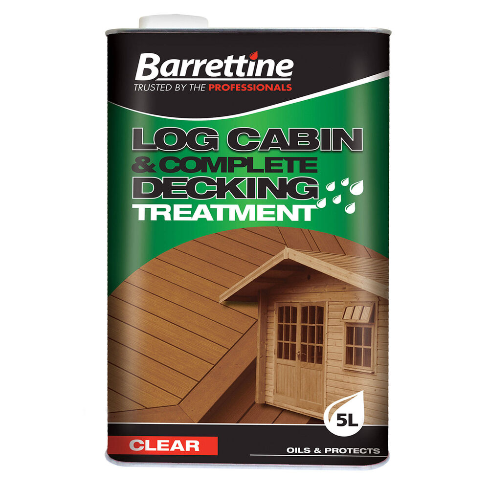 Exterior: Barrettine Log Cabin Treatment - Exterior Woodcare - 5L