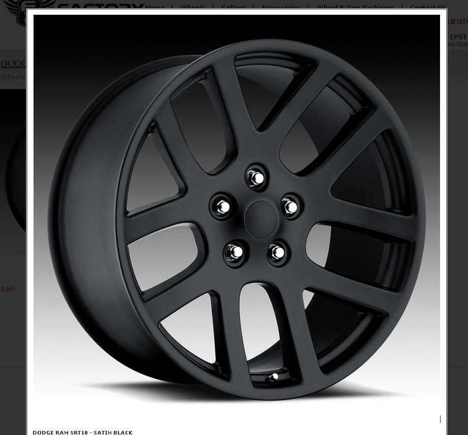 Dodge Durango With Black Rims >> 24 Inch SRT10 Dodge Ram Black Wheels Rims&Tires Fit 5X139 5X5.5 Durango | eBay