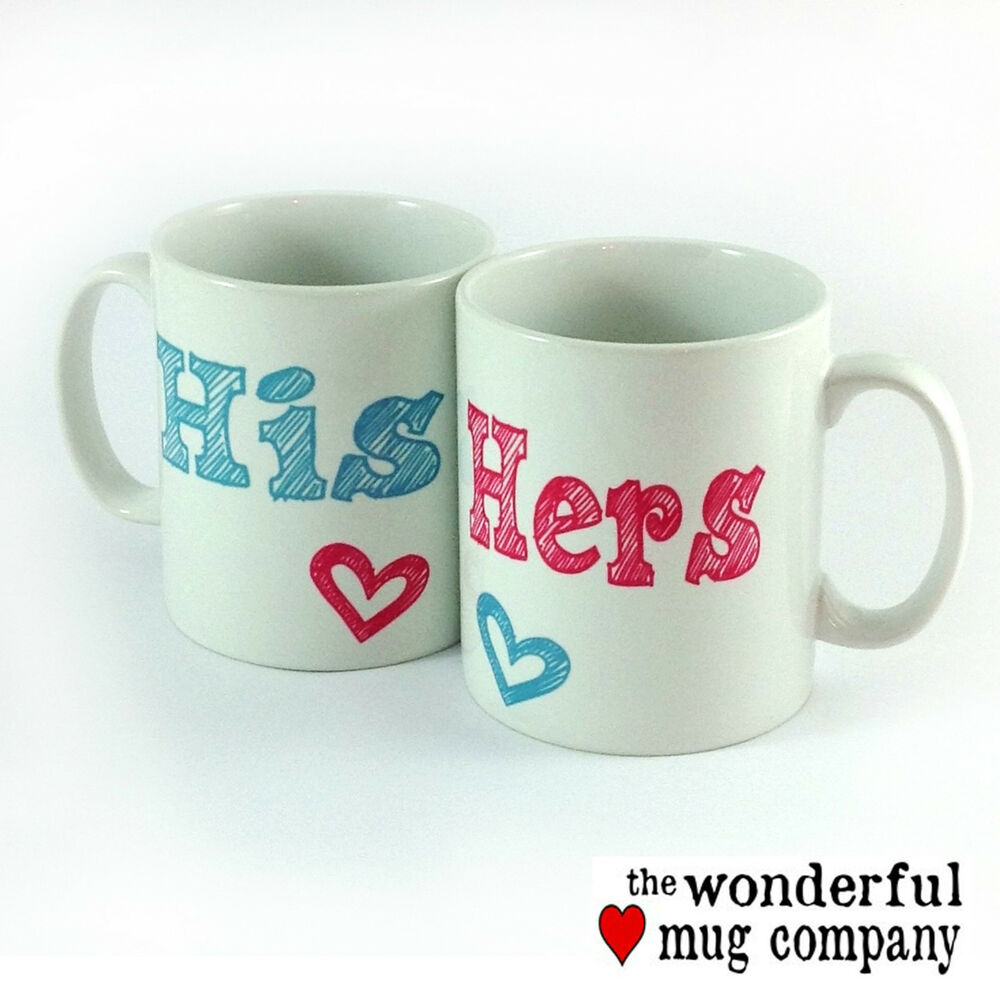 His And Hers Wedding Gifts Uk : HIS AND HERS TWO MUG SET CUPS PRESENT GIFT WEDDING DAY ANNIVERSARY ...