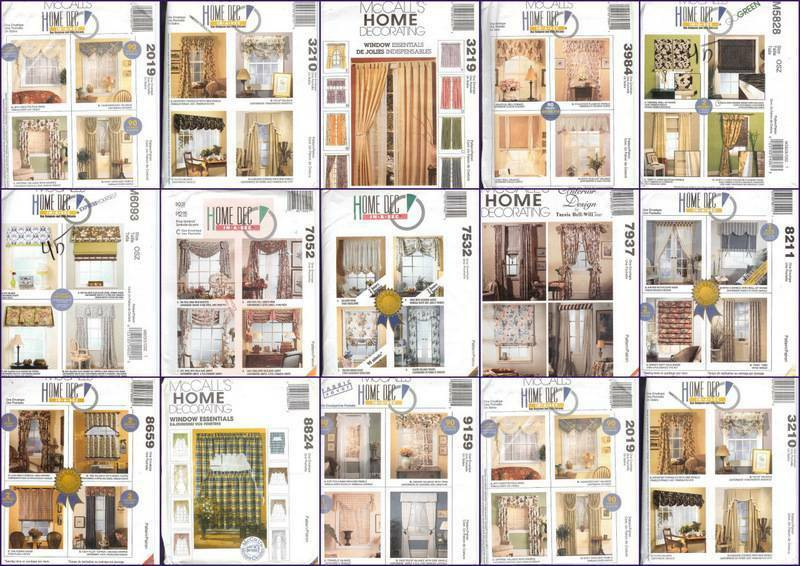 OOP McCalls Sewing Pattern Window Treatment Curtains Toppers Drapery  Valances +