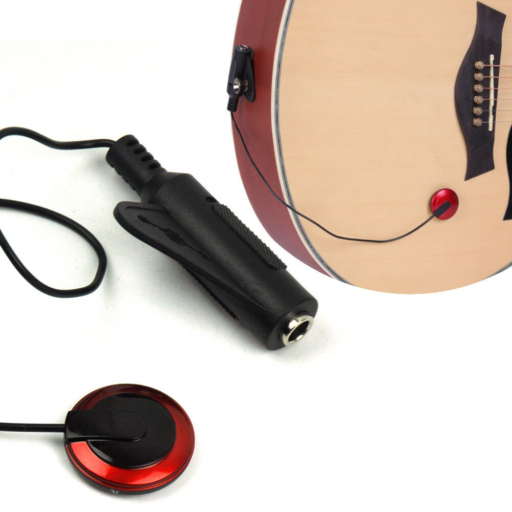 acoustic electric pickup piezo transducer for guitar ukulele easy to install new ebay. Black Bedroom Furniture Sets. Home Design Ideas