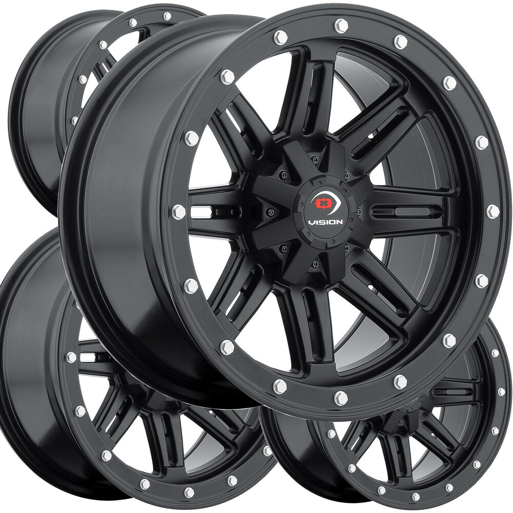 """Yamaha Grizzly 660 >> 4) 12"""" RIMS WHEELS for 2002-2010 Yamaha Grizzly 660 4x4 IRS Vision Type 550 ATV 