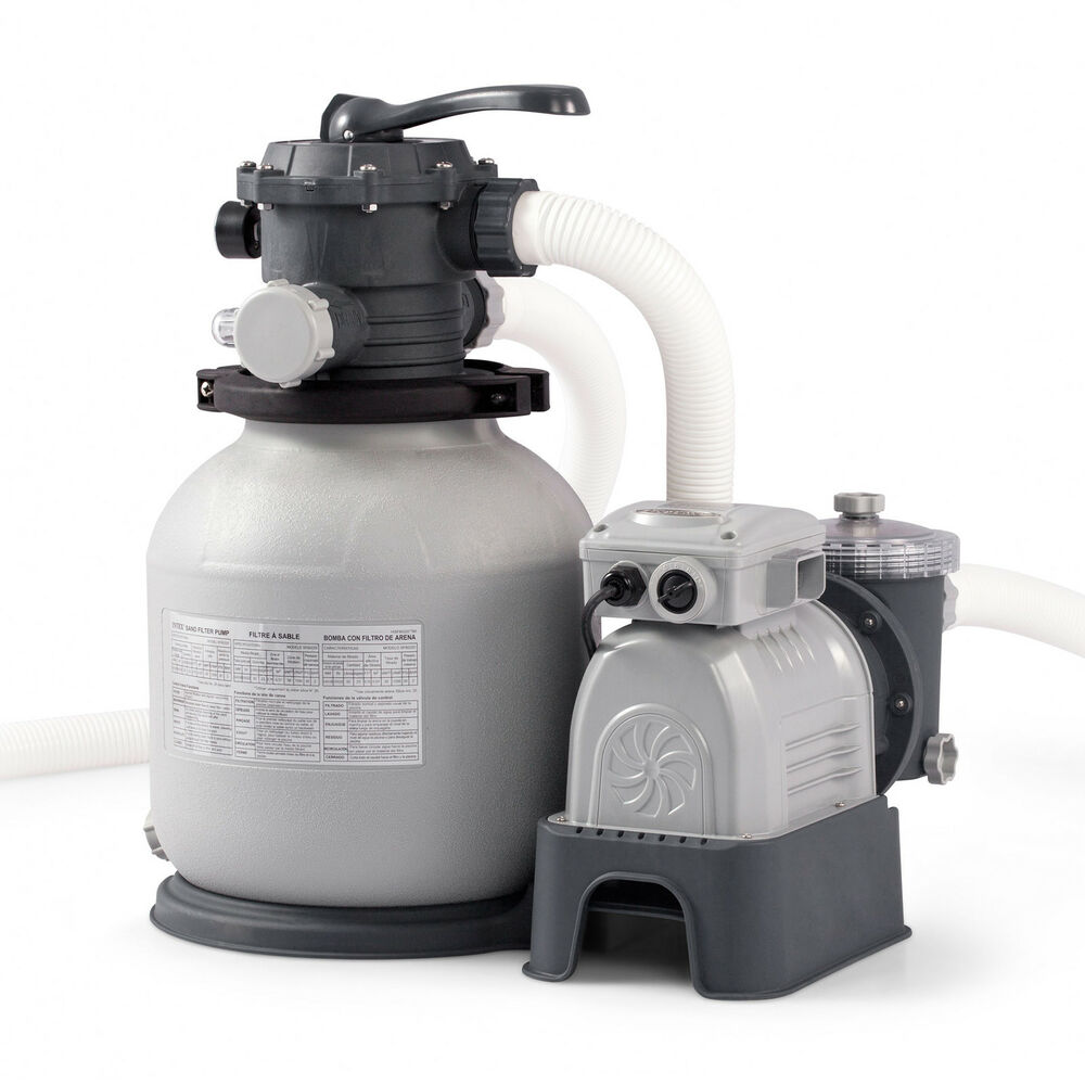 Intex 2100 Gph Krystal Clear Sand Filter Swimming Pool Pump 28645eg Ebay