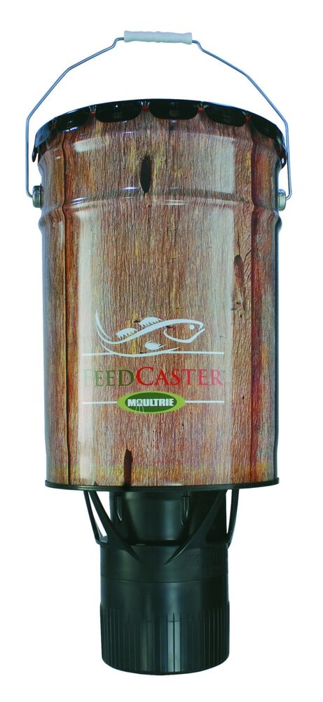 Moultrie feeders 6 gallon automatic directional pond fish for Moultrie fish feeder