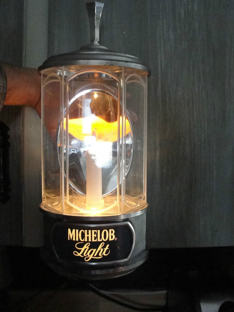 Michelob Light Crystal Lamp 1987 Dated Beer Company Lamp