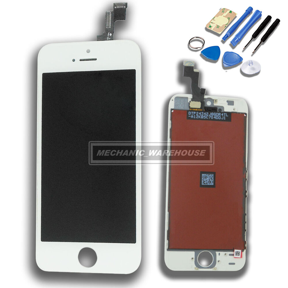 how to replace iphone 5s screen white apple iphone 5s 5gs replacement lcd digitizer 19006