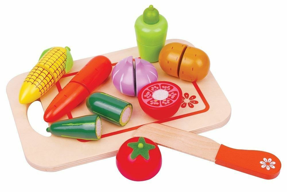 Best Food Toys : Lelin wooden vegetable cut food toy kitchen shopping