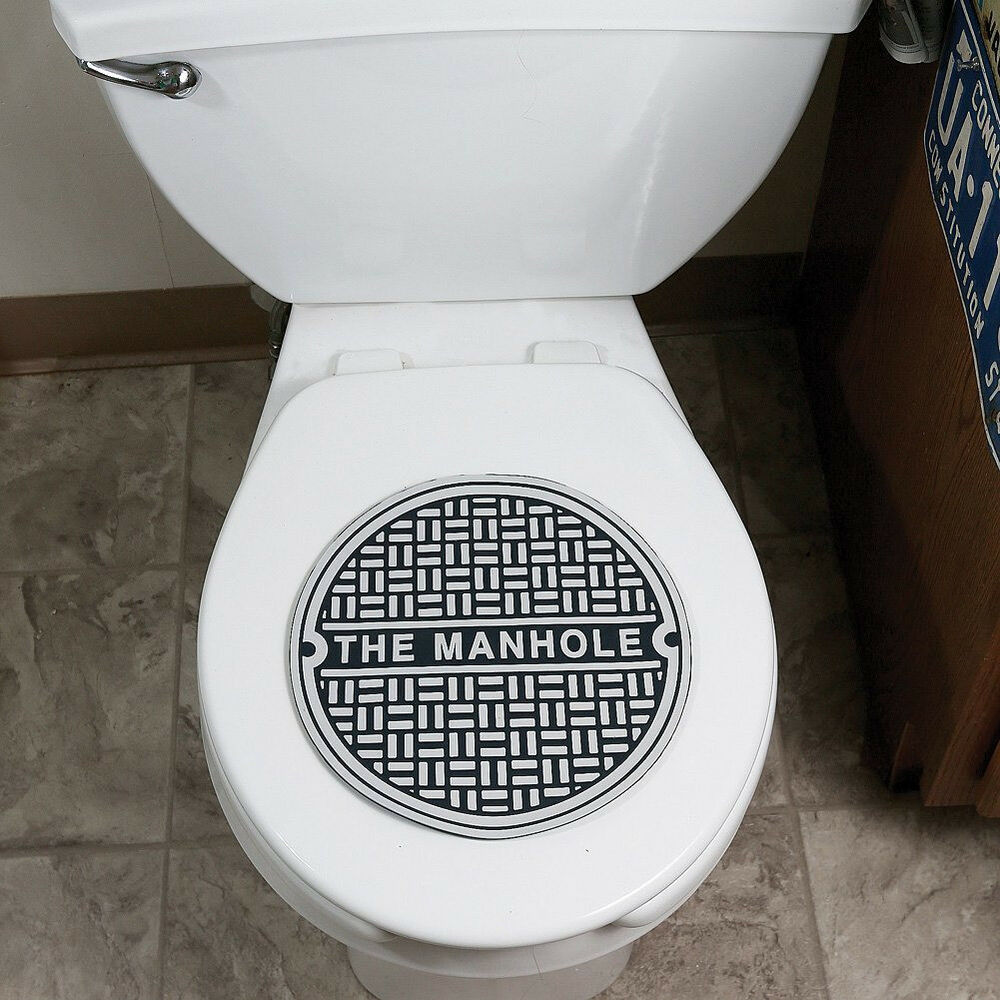 Man Cave Bathroom Colors: MAN CAVE Toilet Bowl Manhole Bathroom Sewer Cover