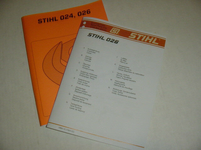 Stihl Chainsaw 024 026 Repair Manual   Parts List New