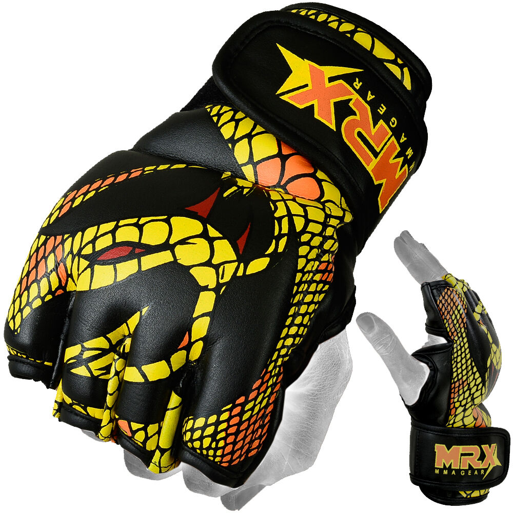 Boxing Gloves: MRX Fight MMA Gloves UFC Cage Boxing Grappling Glove Snake