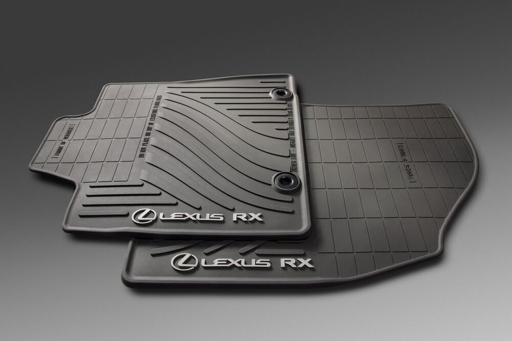 2013 2015 lexus rx350 all weather black rubber floor mats. Black Bedroom Furniture Sets. Home Design Ideas