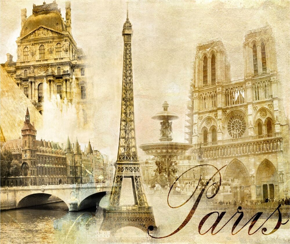 Eiffel tower paris france tan shades image home decor for Art and decoration france