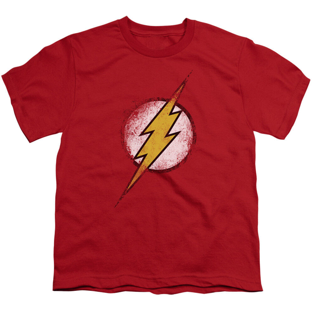 The flash logo vintage style dc comics superhero big boys Boys superhero t shirts
