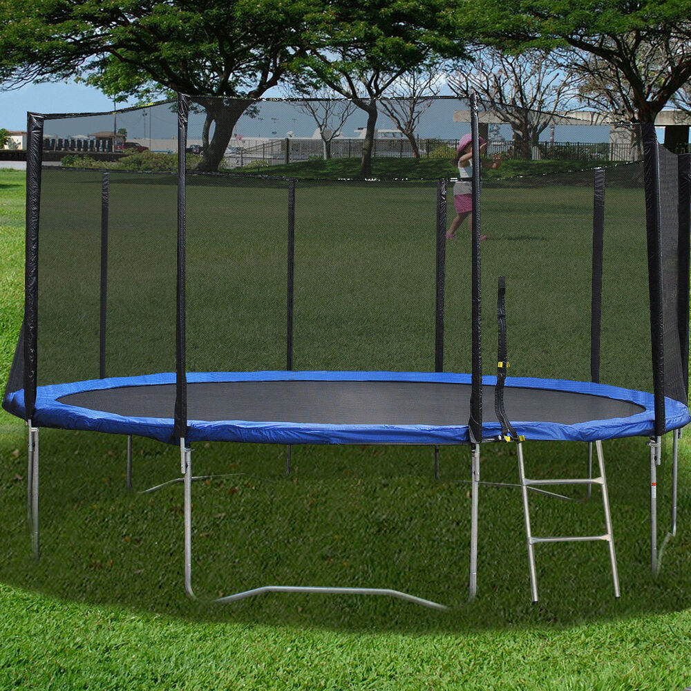 New 16FT Trampoline Combo Bounce Jump Safety Enclosure Net