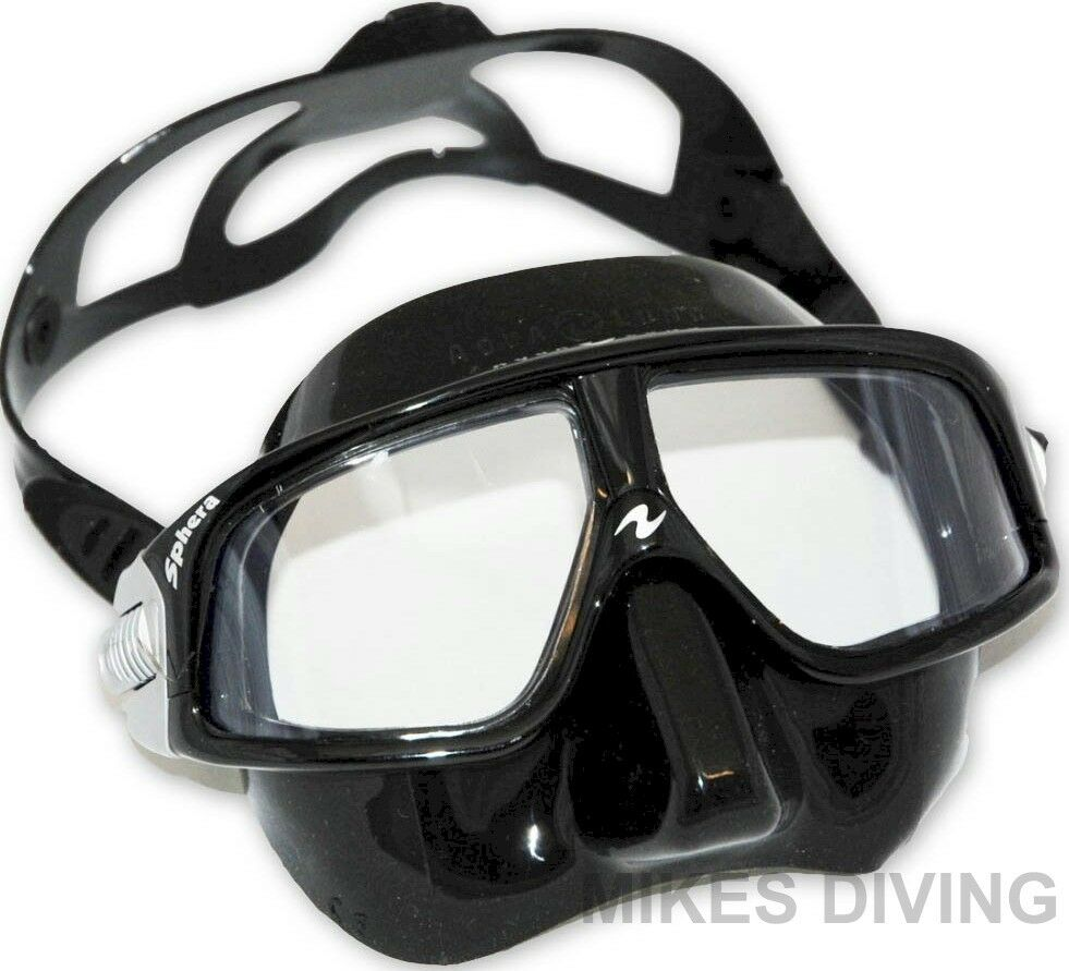 sphera mask black freediving free dive spear fishing aqua lung diving low volume ebay. Black Bedroom Furniture Sets. Home Design Ideas