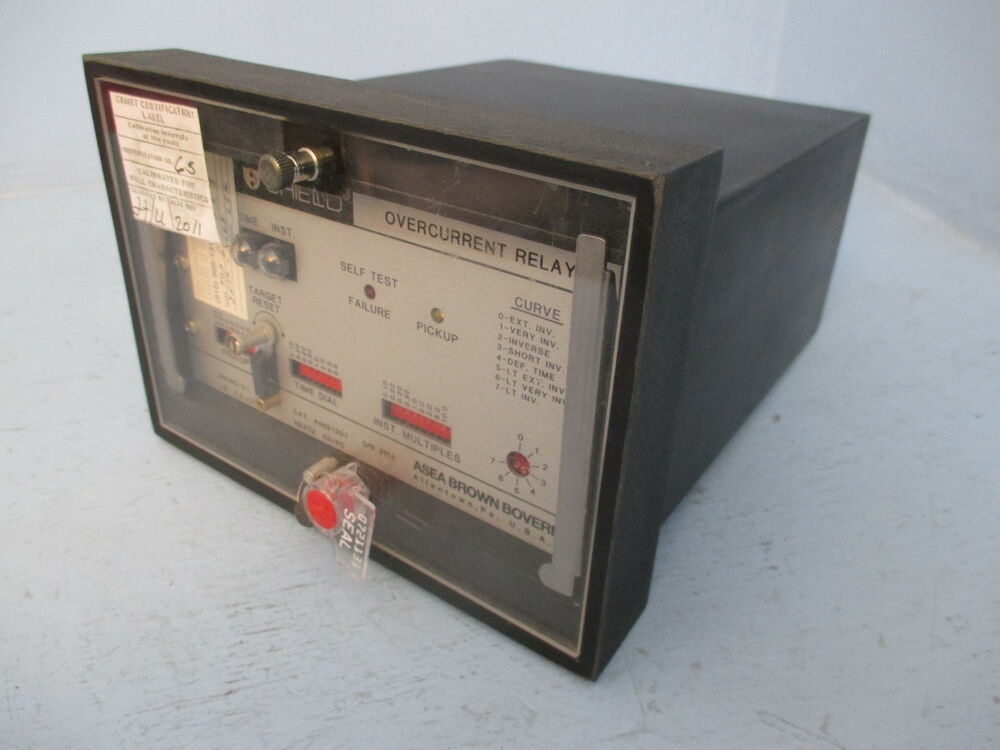 Abb 446s1201 circuit shield overcurrent relay asea brown for Abb motor circuit protector