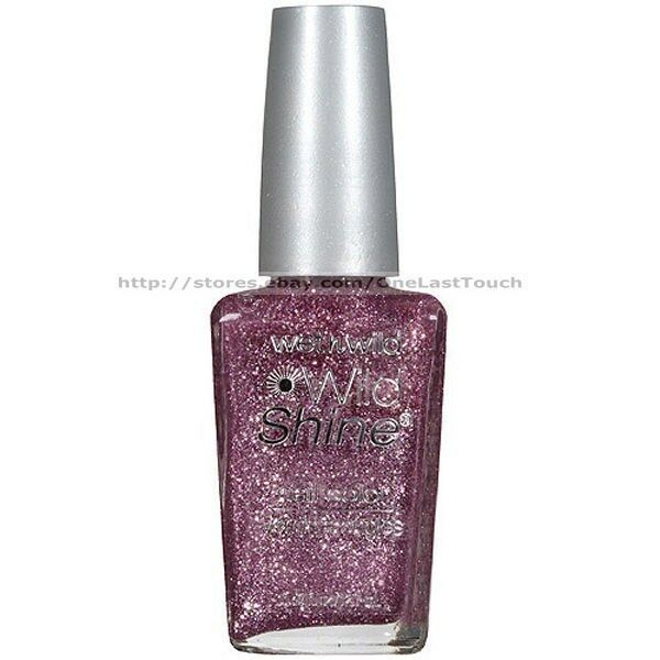 Wet N Wild Neon Nail Polish: WET N WILD* Nail Polish #435G SPARKED Pink+Silver Glitter