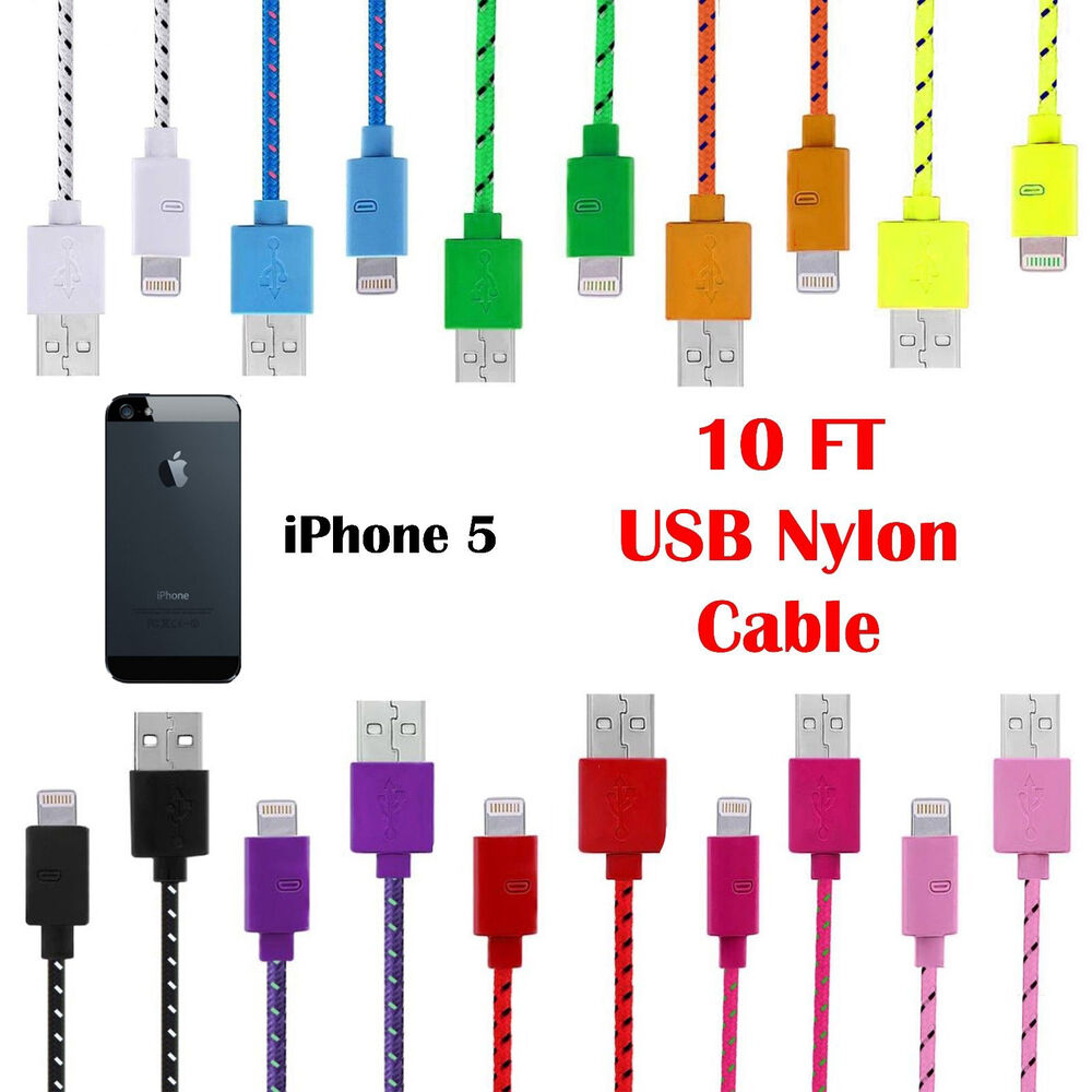 Colored Iphone Charger Cable