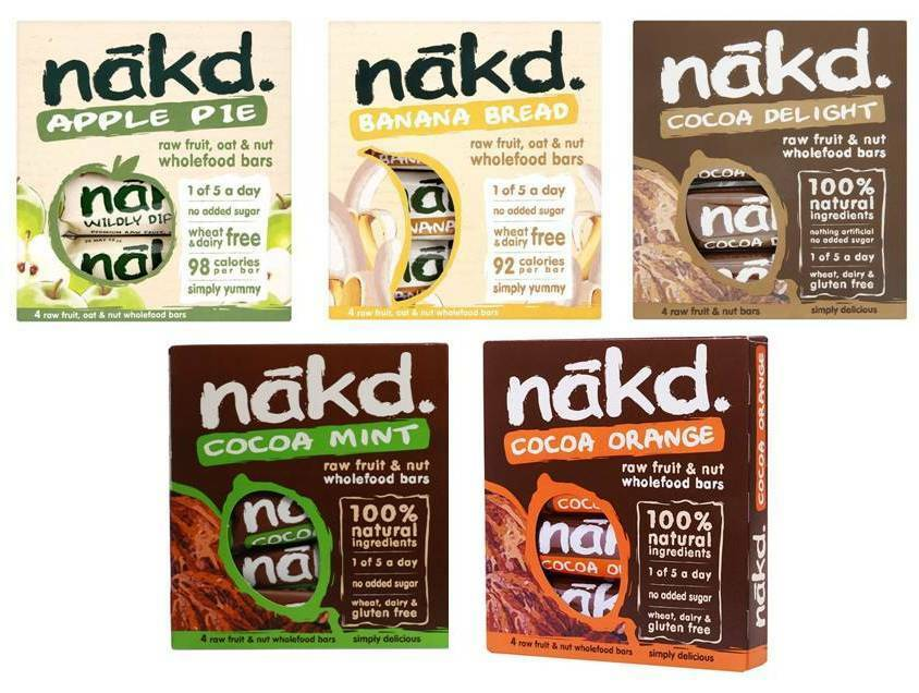 Nakd fruit nut bars mixed case selection vegan cold for Raw food bars uk