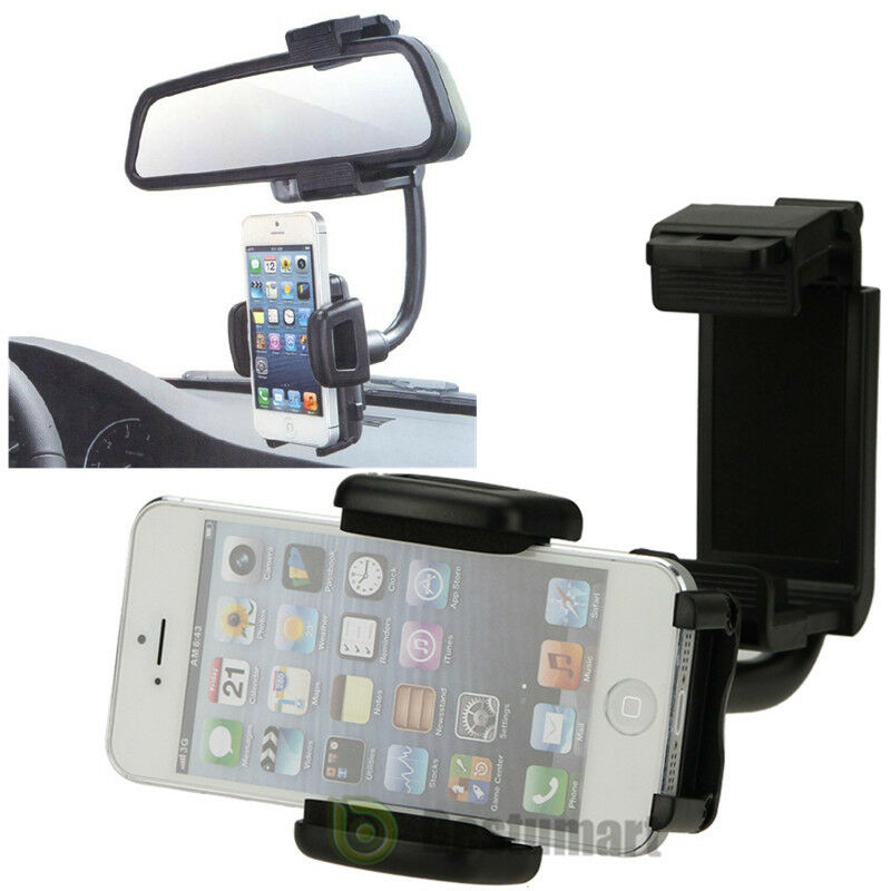 Car rearview mirror mount holder for cell phone iphone 6s for Phone mirror
