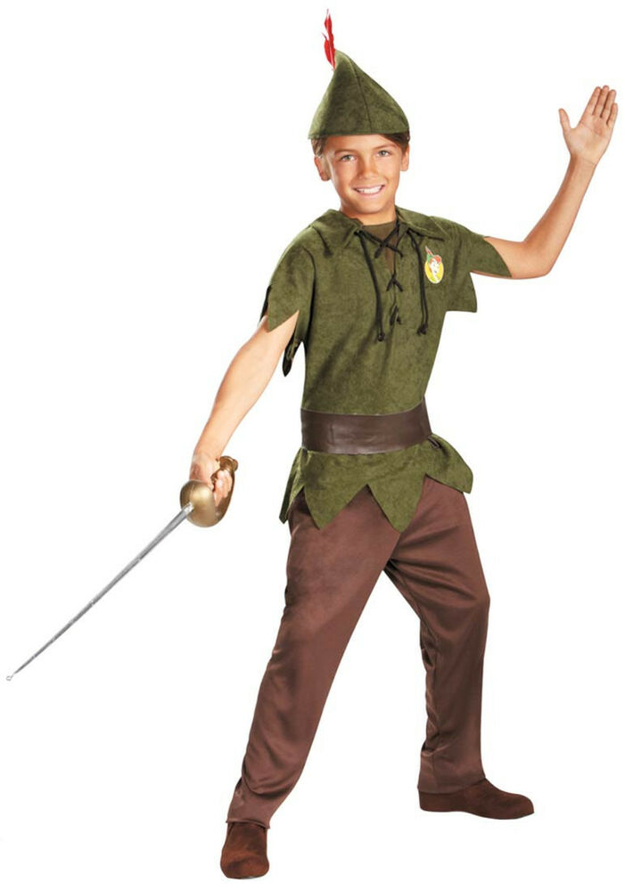 disney classics peter pan child costume ebay. Black Bedroom Furniture Sets. Home Design Ideas