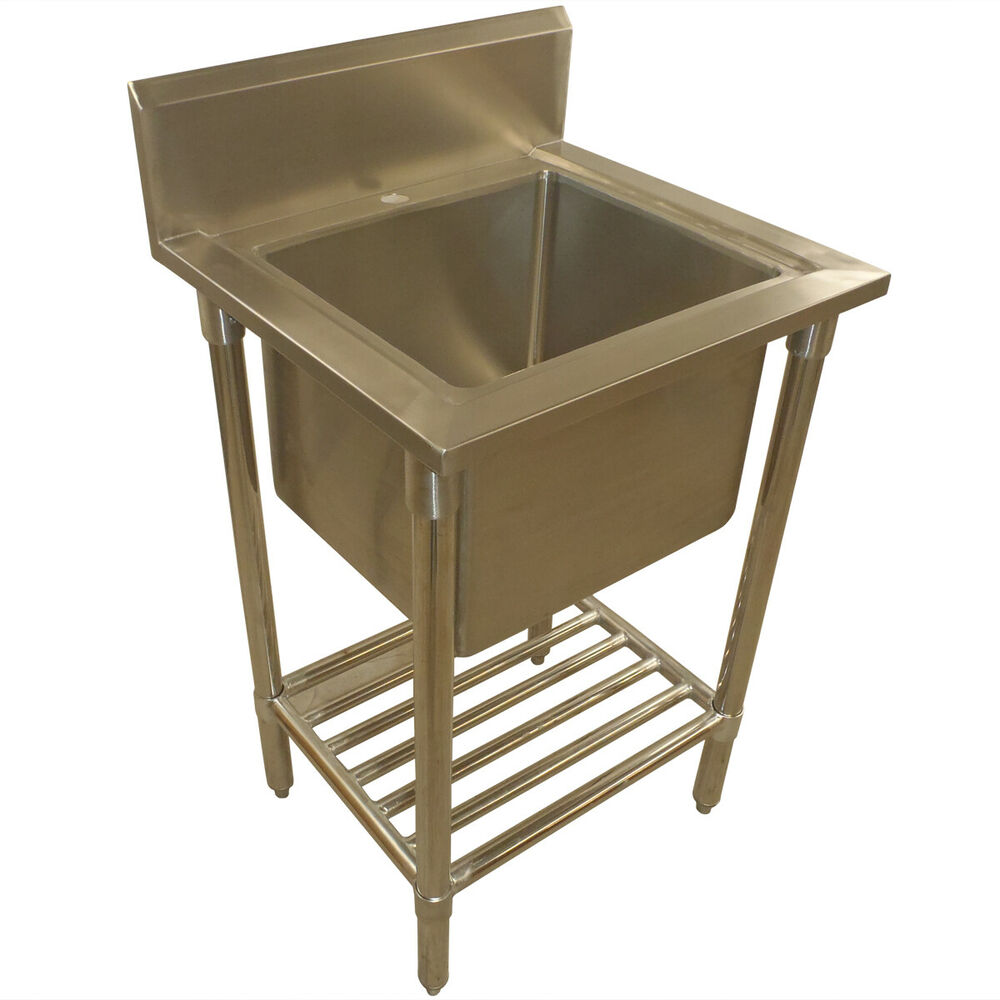Stainless Steel Mop Sink Commercial : ... 920mm NEW COMMERCIAL SINGLE BOWL MOP SINK STAINLESS STEEL BENCH eBay