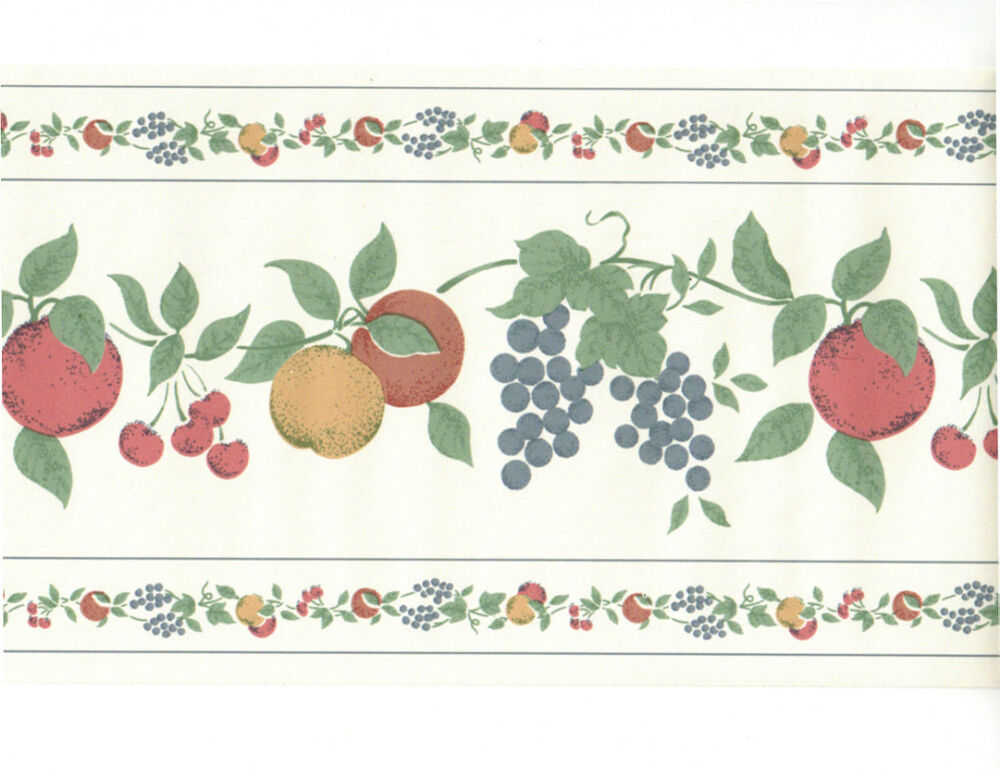 Country Mixed Fruit Vine Grape Apple Cherry Kitchen Apples