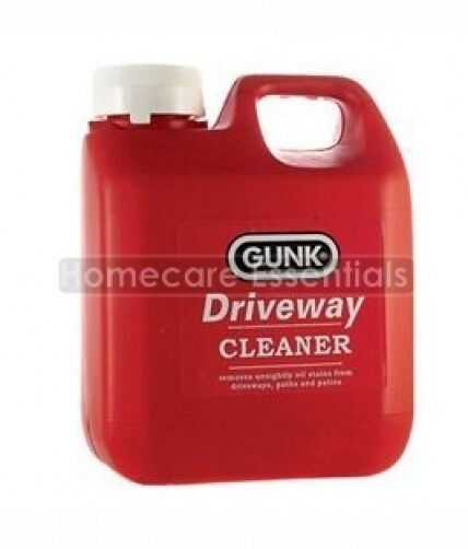 Gunk driveway cleaner oil patch remover for stone paths for Cement driveway cleaner