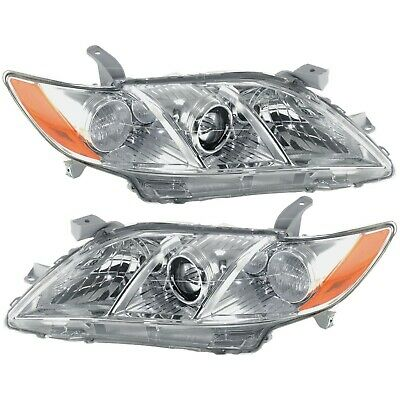Headlight Set For 2007-2009 Toyota Camry Left and Right Halogen 2Pc