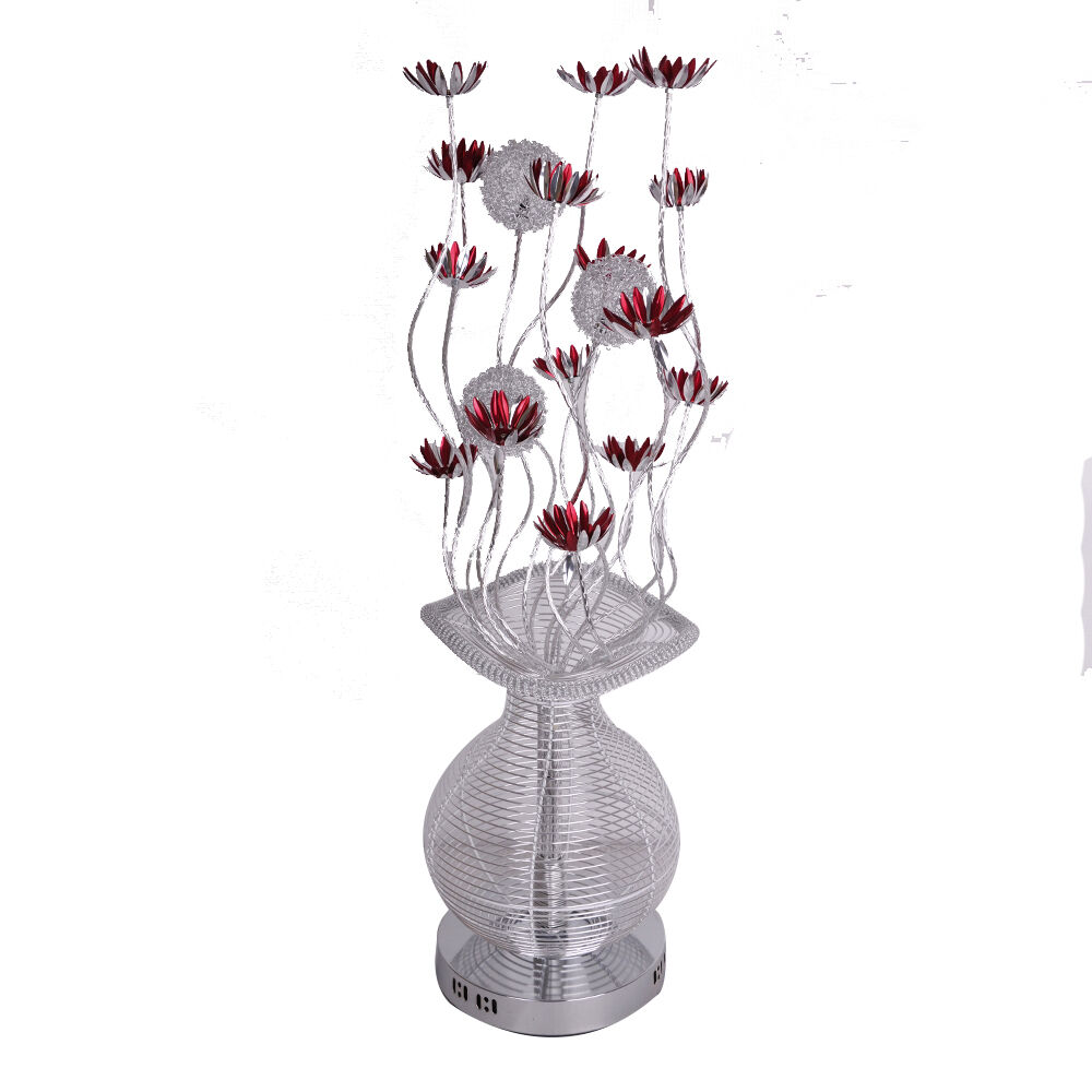 large modern aluminium floor lamp flower vase design With aluminium flower floor lamp in silver red