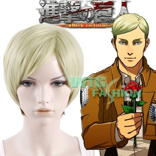 Attack on Titan Erwin Smith Short Blonde With Brown Anime ...