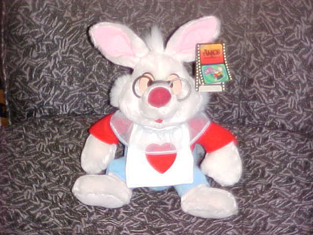 10quot white rabbit plush toy with tags from alice in