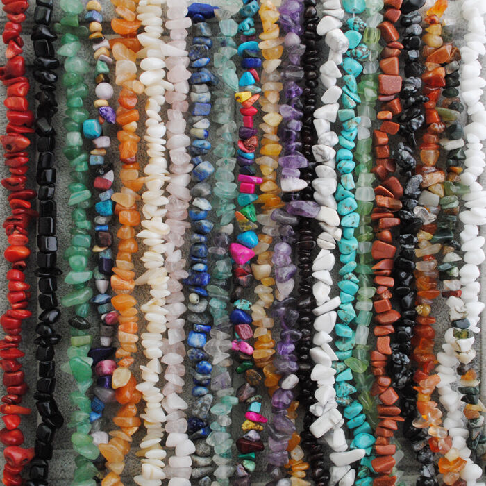 Natural Gemstone Freeform Chip Loose Beads Gem Stone Fit