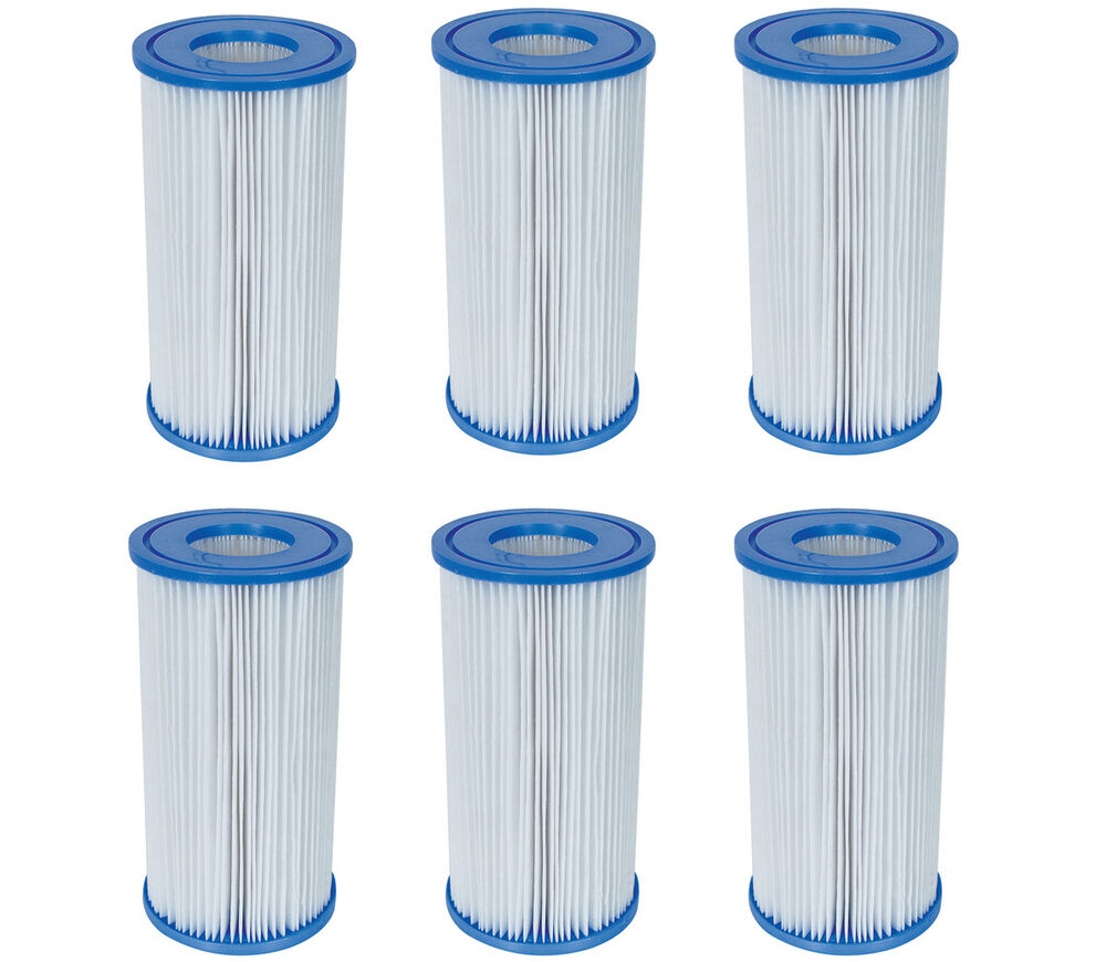 bestway swimming pool filter pump replacement cartridge type iii 58012 6 pack ebay. Black Bedroom Furniture Sets. Home Design Ideas