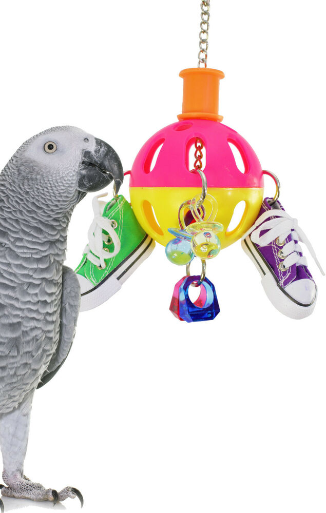 Bird Cage Toys : Spin sneaker bird toy parrot cage toys cages african