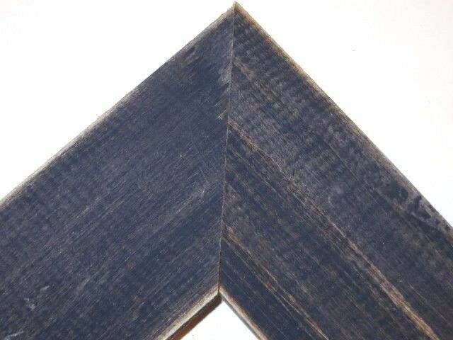 1 5 country dark navy blue rustic distress weathered wood picture frame square ebay. Black Bedroom Furniture Sets. Home Design Ideas