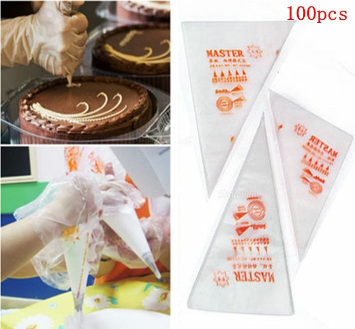 Professional Cake Decorating Bags : Lots 3 sizes 100pcs Disposable Icing Piping Cake Pastry ...