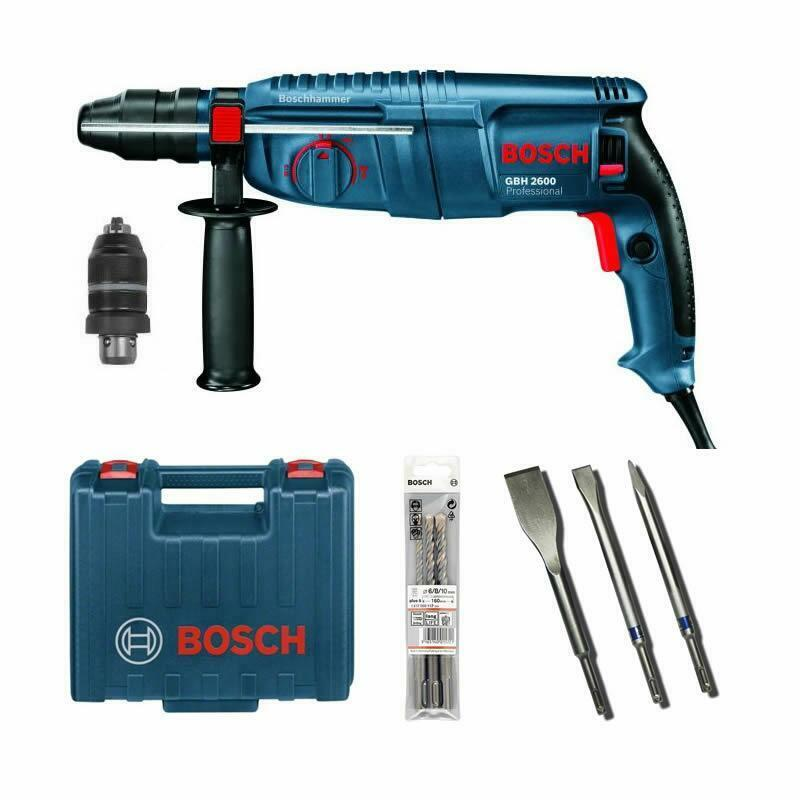 bosch gbh2600 gbh 2600 inkl mei el set bohrer set sds plus bohrhammer ebay. Black Bedroom Furniture Sets. Home Design Ideas