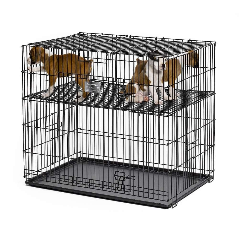 Midwest Puppy Play Pen W Plastic Pans Amp Adjustable Raised