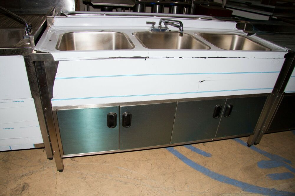 three compartment kitchen sink 3 compartment self contained kitchen sink ebay 6107