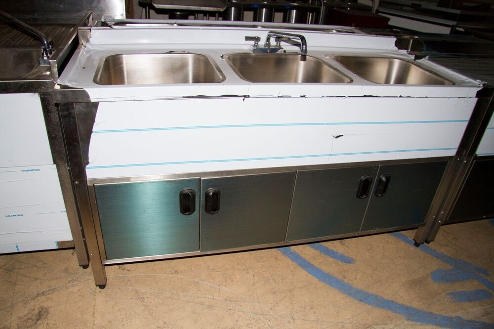 3 Compartment Self Contained Kitchen Sink Ebay