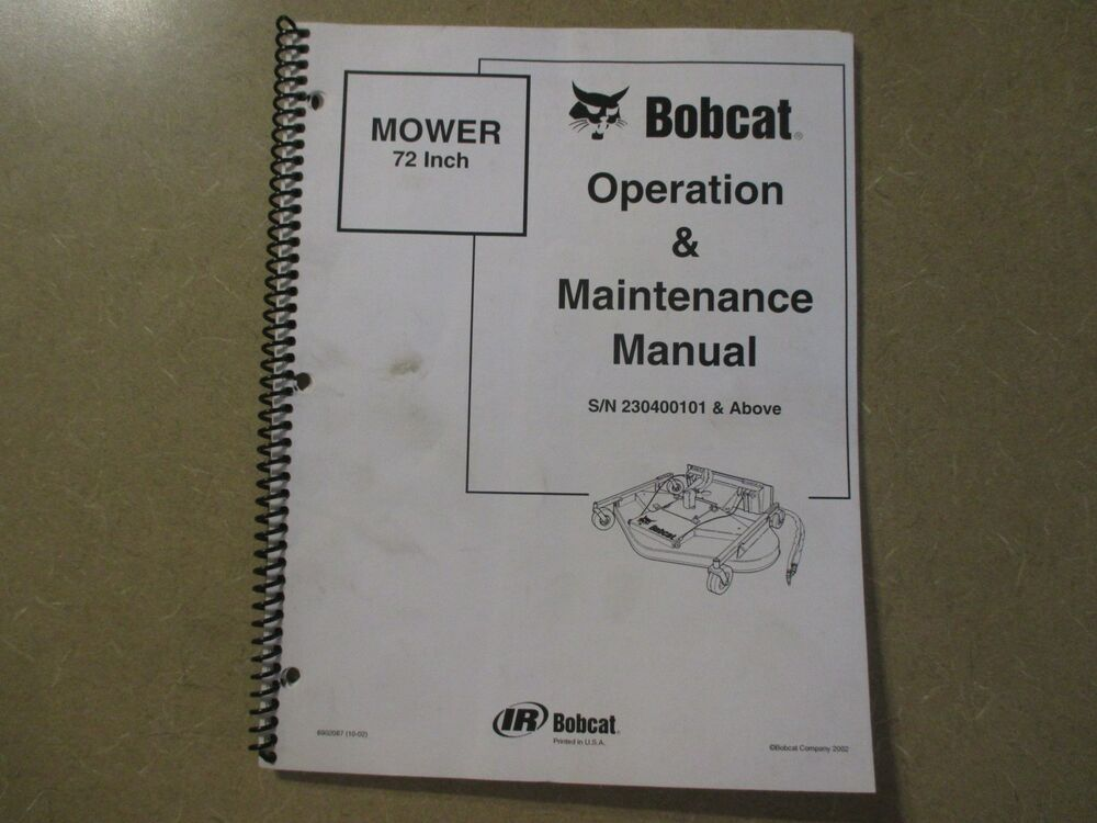 Bobcat 463 Operators Manual Free