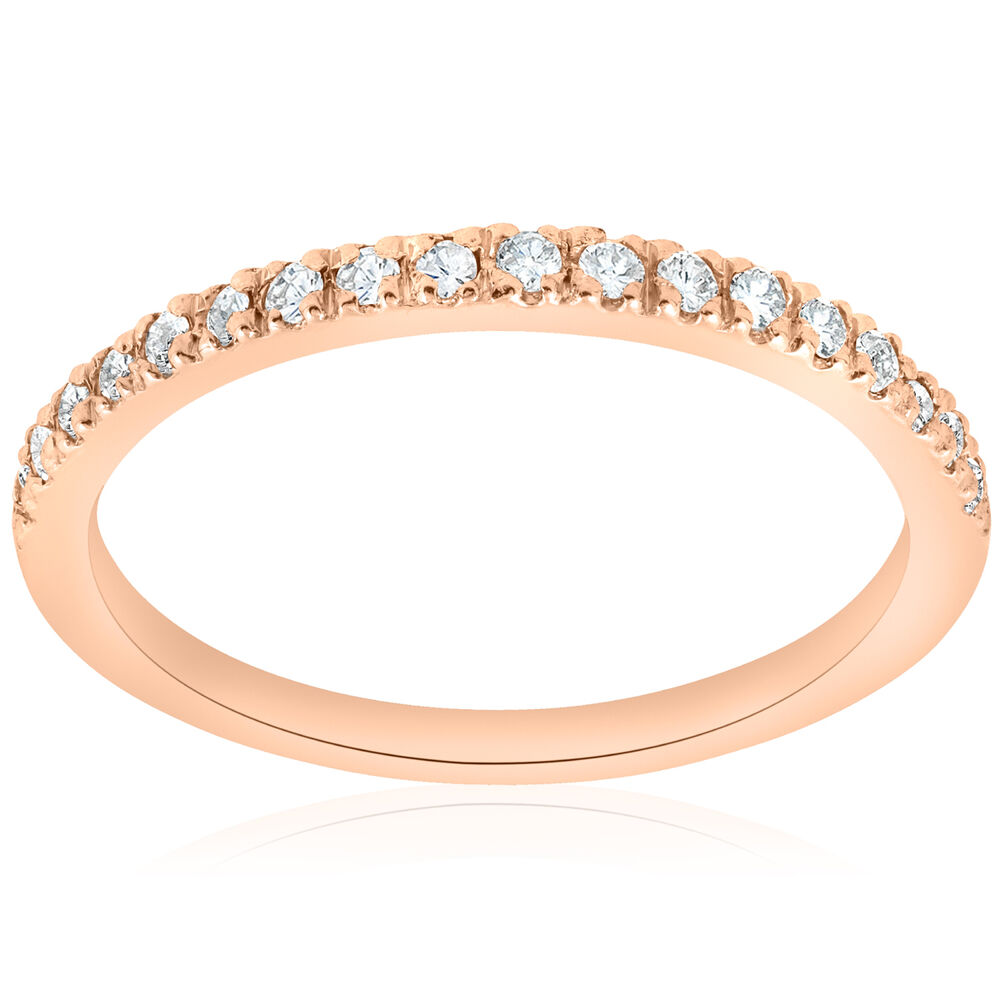 1 4ct diamond ring 14k rose gold womens diamond wedding. Black Bedroom Furniture Sets. Home Design Ideas