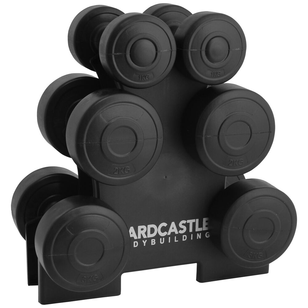 12kg Dumbbell Weights Set Amp Stand Rack Home Gym Exercise