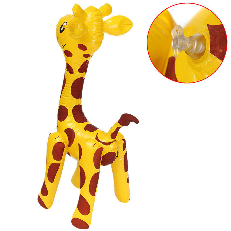 60Cm Inflatable Blow Up Giraffe - Jungle Zoo Animal Party -7733