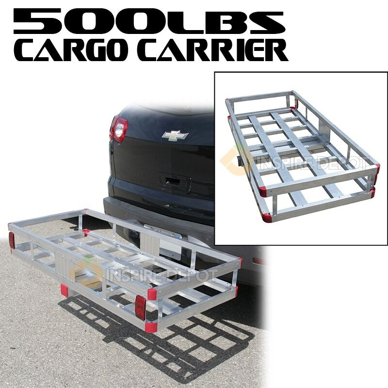 "Tab Rv Prices >> Cargo Carrier 2"" Hitch Mount Aluminum Luggage Storage"