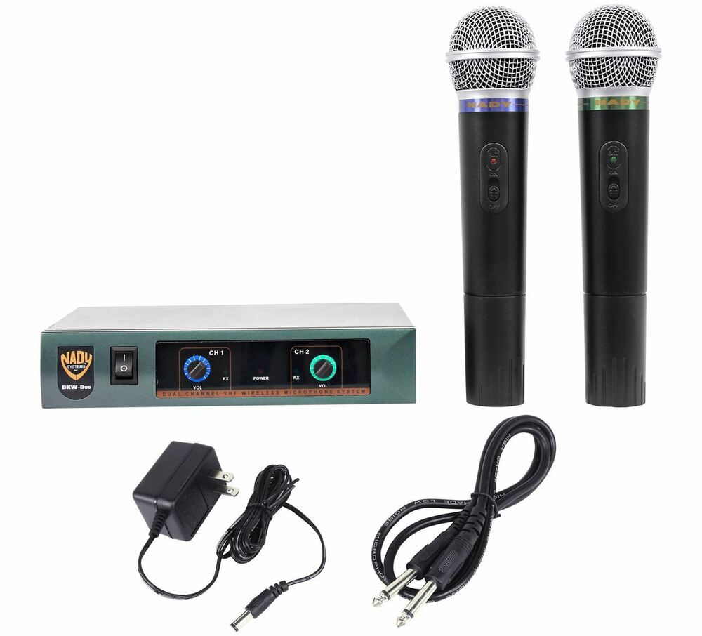 nady pro dkw duo dual vhf wireless microphone system handheld mic sys 634343266306 ebay. Black Bedroom Furniture Sets. Home Design Ideas