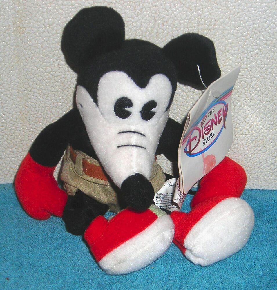 Disney store exclusive mickey mouse classic comic 8 plush bean bag toy ebay - Disney store mickey mouse ...
