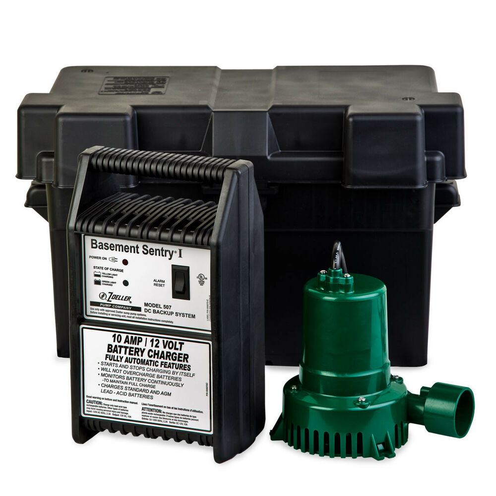Zoeller 507-0005 Basement Sentry 12 Volt DC Backup Sump